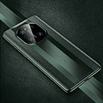 Coque Luxe Cuir Housse Etui K01 pour Huawei Mate 40 Pro Vert Nuit