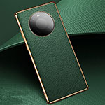 Coque Luxe Cuir Housse Etui K02 pour Huawei Mate 40 Vert