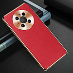 Coque Luxe Cuir Housse Etui K03 pour Huawei Mate 40 Rouge