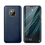 Coque Luxe Cuir Housse Etui P03 pour Huawei Mate 20 Pro Bleu