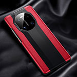Coque Luxe Cuir Housse Etui R02 pour Huawei Mate 40 Rouge