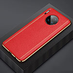 Coque Luxe Cuir Housse Etui R07 pour Huawei Mate 30 5G Rouge