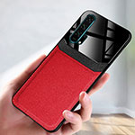 Coque Luxe Cuir Housse Etui R08 pour Huawei Honor 20 Pro Rouge