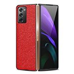 Coque Luxe Cuir Housse Etui S01 pour Samsung Galaxy Z Fold2 5G Rouge