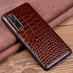 Coque Luxe Cuir Housse Etui S03 pour Oppo Find X2 Pro Marron