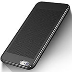 Coque Plastique Rigide Mailles Filet W01 pour Apple iPhone 6 Plus Noir