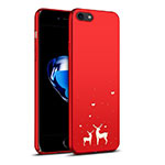 Coque Plastique Rigide Renne pour Apple iPhone 8 Rouge