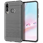 Coque Silicone Housse Etui Gel Serge pour Huawei P30 Lite Gris