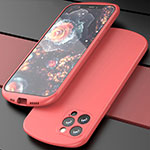 Coque Ultra Fine Silicone Souple 360 Degres Housse Etui N01 pour Apple iPhone 12 Pro Max Rouge