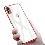 Housse Ultra Fine TPU Souple Transparente C16 pour Apple iPhone Xs Max Rouge