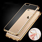 Housse Ultra Fine TPU Souple Transparente H06 pour Apple iPhone 6 Or