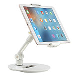 Support de Bureau Support Tablette Flexible Universel Pliable Rotatif 360 H06 pour Apple iPad Air Blanc