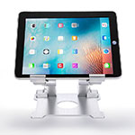 Support de Bureau Support Tablette Flexible Universel Pliable Rotatif 360 H09 pour Apple iPad 4 Blanc