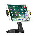 Support de Bureau Support Tablette Flexible Universel Pliable Rotatif 360 K03 pour Apple iPad Mini 4 Noir