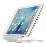 Support de Bureau Support Tablette Flexible Universel Pliable Rotatif 360 K14 pour Apple iPad 4 Argent
