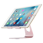 Support de Bureau Support Tablette Flexible Universel Pliable Rotatif 360 K15 pour Apple iPad 4 Or Rose