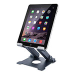 Support de Bureau Support Tablette Flexible Universel Pliable Rotatif 360 K18 pour Apple iPad 4 Gris Fonce