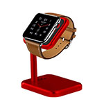 Support de Station de Charge Pied Support Crochet pour Apple iWatch 3 38mm Rouge