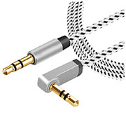 Cable Auxiliaire Audio Stereo Jack 3.5mm Male vers Male A08 Gris