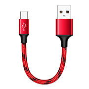 Cable Type-C Android Universel 25cm S04 Rouge