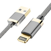Chargeur Cable Data Synchro Cable D24 pour Apple iPhone 11 Pro Gris