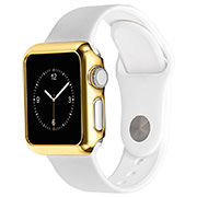 Coque Bumper Luxe Aluminum Metal C03 pour Apple iWatch 3 38mm Or