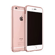 Coque Bumper Luxe Aluminum Metal pour Apple iPhone 6S Or Rose