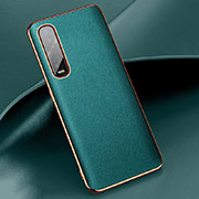 Coque Luxe Cuir Housse Etui R01 pour Oppo Find X2 Pro Vert