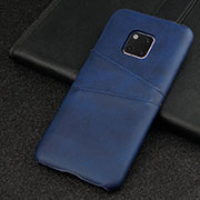 Coque Luxe Cuir Housse Etui R05 pour Huawei Mate 20 Pro Bleu