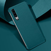 Coque Luxe Cuir Housse Etui R06 pour Huawei P30 Vert