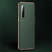 Coque Luxe Cuir Housse Etui U02 pour Oppo Find X2 Pro Vert