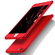 Coque Plastique Mat Protection Integrale 360 Degres Avant et Arriere M01 pour Apple iPhone 6 Plus Rouge