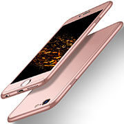 Coque Plastique Mat Protection Integrale 360 Degres Avant et Arriere pour Apple iPhone 6 Plus Or Rose