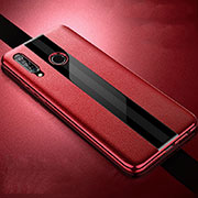 Coque Silicone Gel Motif Cuir Housse Etui H05 pour Huawei Honor 20 Lite Rouge