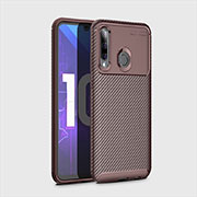 Coque Silicone Housse Etui Gel Serge pour Huawei Honor 20 Lite Marron