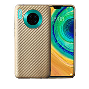 Coque Silicone Housse Etui Gel Serge pour Huawei Mate 30 Or
