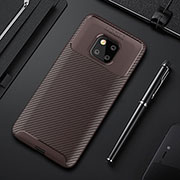 Coque Silicone Housse Etui Gel Serge S01 pour Huawei Mate 20 Pro Marron