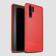 Coque Silicone Housse Etui Gel Serge S04 pour Huawei P30 Pro Rouge