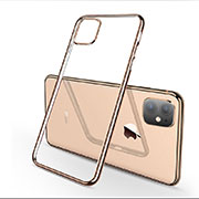 Coque Ultra Fine TPU Souple Housse Etui Transparente H03 pour Apple iPhone 11 Or