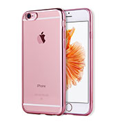 Coque Ultra Fine TPU Souple Housse Etui Transparente H17 pour Apple iPhone 6 Or Rose