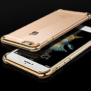 Coque Ultra Fine TPU Souple Housse Etui Transparente HC01 pour Apple iPhone 6 Or