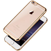 Coque Ultra Fine TPU Souple Housse Etui Transparente T08 pour Apple iPhone 6 Or
