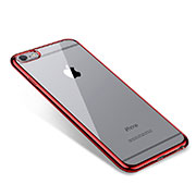 Coque Ultra Fine TPU Souple Housse Etui Transparente T09 pour Apple iPhone 6 Plus Rouge