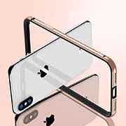 Housse Contour Luxe Aluminum Metal pour Apple iPhone Xs Max Or