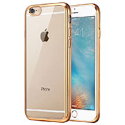 Housse Ultra Fine TPU Souple Transparente T16 pour Apple iPhone 6 Or