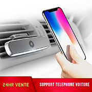 Support Telephone Voiture Grille Aeration Magnetique Aimant Universel C03 Argent
