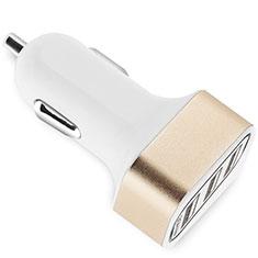 3.0A Adaptateur de Voiture Chargeur Rapide 3 USB Port Universel U07 pour Wiko Barry Or