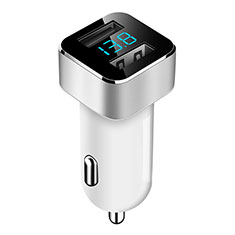 3.1A Adaptateur de Voiture Chargeur Rapide Double USB Port Universel pour Wiko Barry Blanc