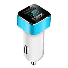 3.1A Adaptateur de Voiture Chargeur Rapide Double USB Port Universel pour Wiko Barry Bleu Ciel