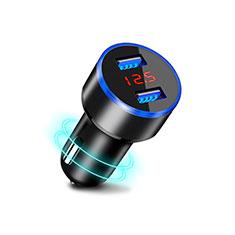 3.1A Adaptateur de Voiture Chargeur Rapide Double USB Port Universel K03 pour Wiko Barry Noir